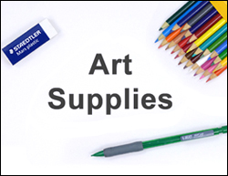 Art Materials Supplies List