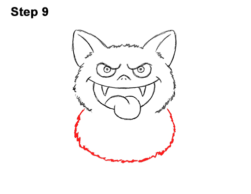 How to Draw Angry Funny Cute Halloween Cartoon Bat 9