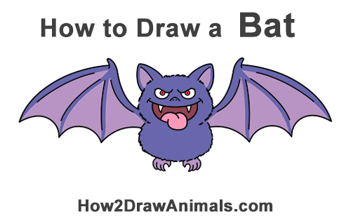 how to draw so cute bat