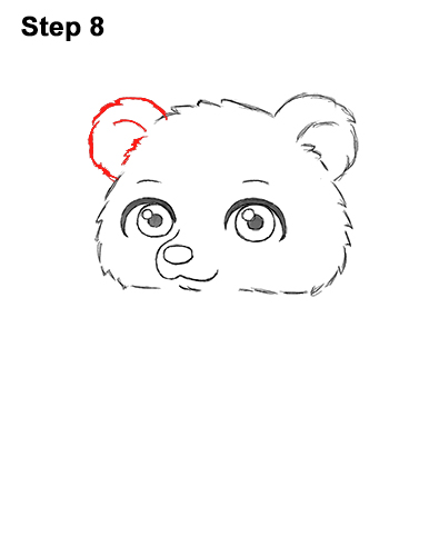 How to Draw a Cute Little Mini Chibi Cartoon Brown Bear Cub 8