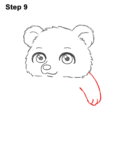 How to Draw a Cute Little Mini Chibi Cartoon Brown Bear Cub 9