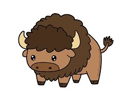 How to draw a Cartoon Bison