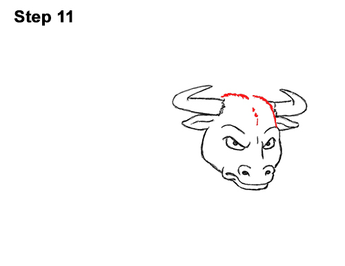 Draw Angry Mean Big Charging Cartoon Bull 11