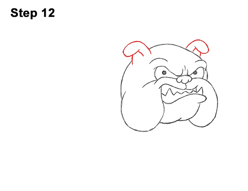 Draw Cartoon Bulldog Tough Mean Dog 12