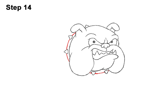 Draw Cartoon Bulldog Tough Mean Dog 14