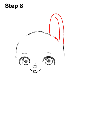 Draw Cute Cartoon Bunny Rabbit Chibi Little Mini 8