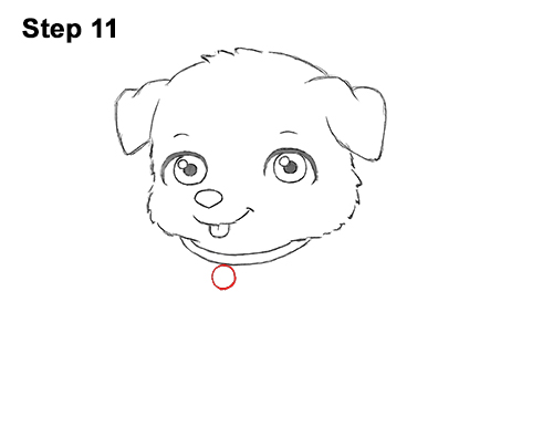 How To Draw A Puppy Cartoon