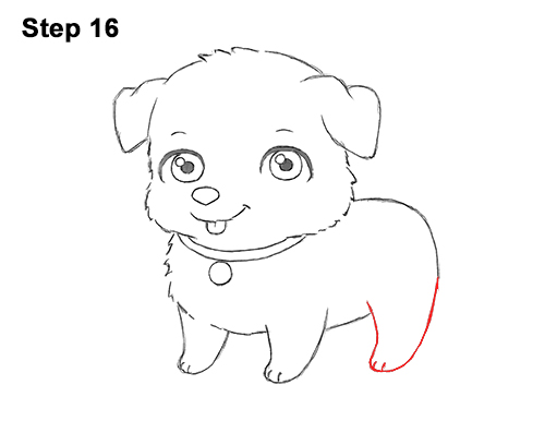 Draw Cartoon Puppy Dog Retriever 16
