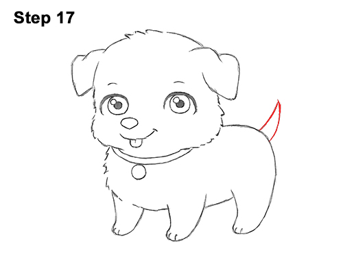 Draw Cartoon Puppy Dog Retriever 17