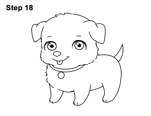 Draw Cartoon Puppy Dog Retriever 18