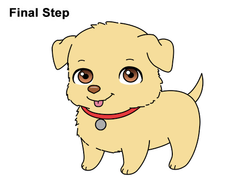 Draw Cartoon Puppy Dog Retriever