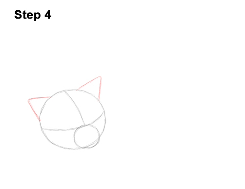 How to Draw a Cat Kitten Sleeping 4