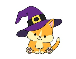 How to Draw a Cat Cartoon Witch Hat Halloween