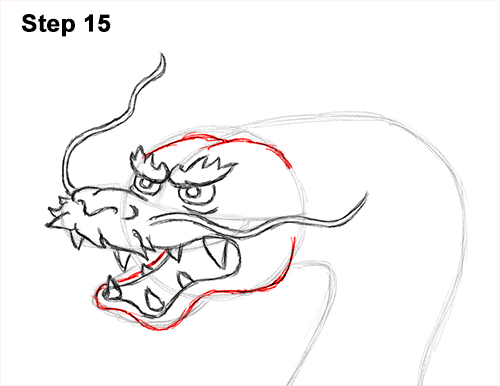 Draw Chinese Dragon 15