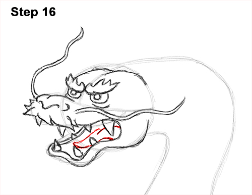 Draw Chinese Dragon 16