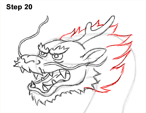 Draw Chinese Dragon 20