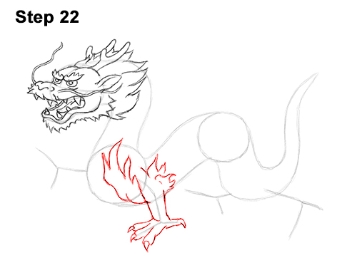 Draw Chinese Dragon 22