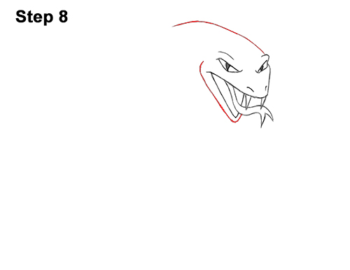 Draw Cartoon Mean Angry Cobra Snake 8