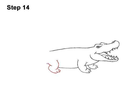 How to Draw Angry Cartoon Crocodile Alligator Smile 14