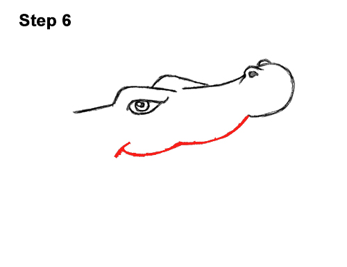 How to Draw Angry Cartoon Crocodile Alligator Smile 6