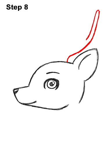 how to draw a deer head
