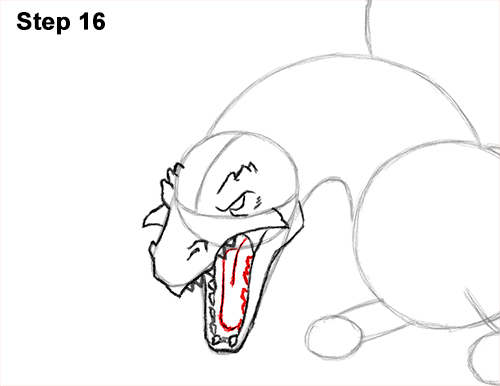 how to draw a dragon mouth