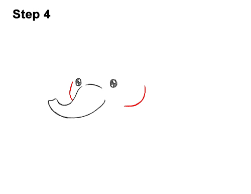 How to Draw Cute Cartoon Elephant Chibi 4