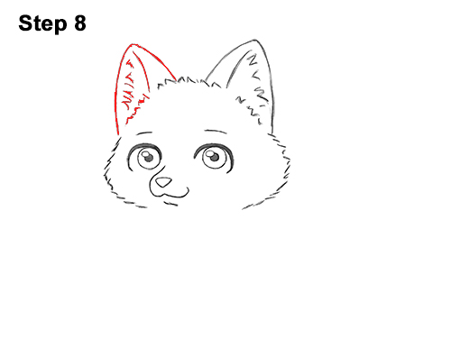 Draw Cute Cartoon Red Fox Chibi Little Mini 8