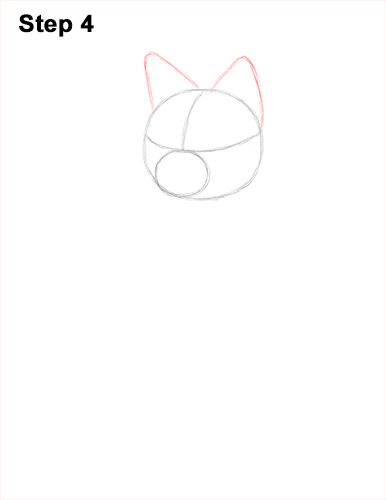 How to Draw a Red Fox Sitting 4