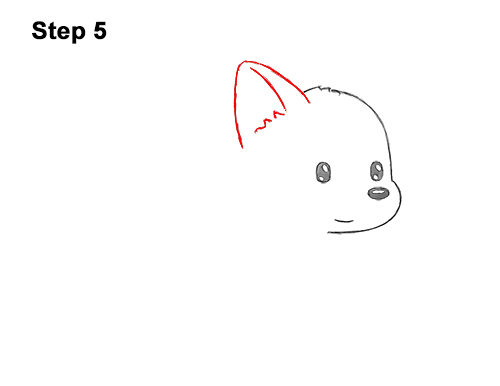 How to Draw Cute Cartoon German Shepherd Puppy Dog 5