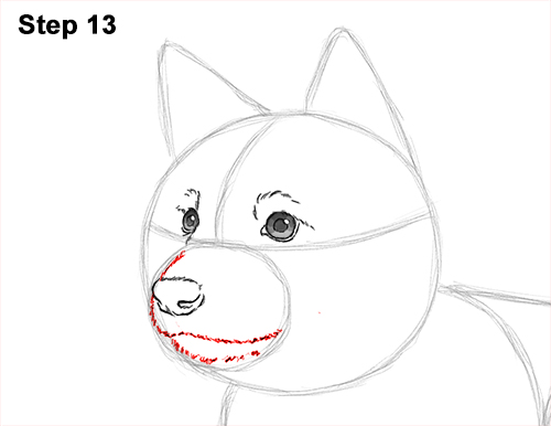 How to Draw a Cute German Shepherd Puppy Dog 13