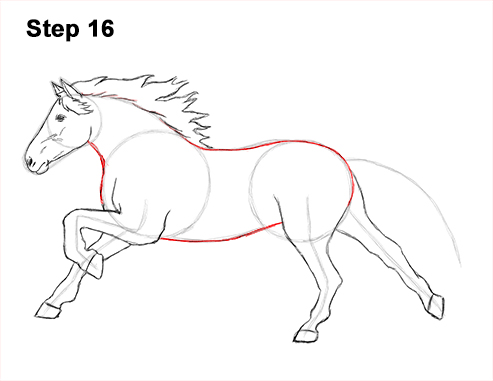 Drawing Of A Horse Running | www.pixshark.com - Images ...