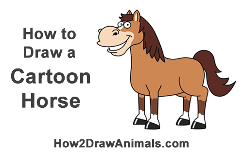 How to Draw a Funny Goofy Cartoon Horse