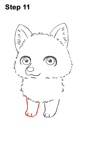 How to Draw a Cute Chibi Little Mini Cartoon Husky Puppy Dog 11