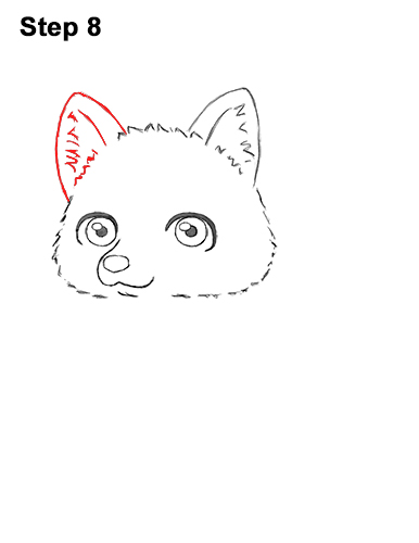 How to Draw a Cute Chibi Little Mini Cartoon Husky Puppy Dog 8