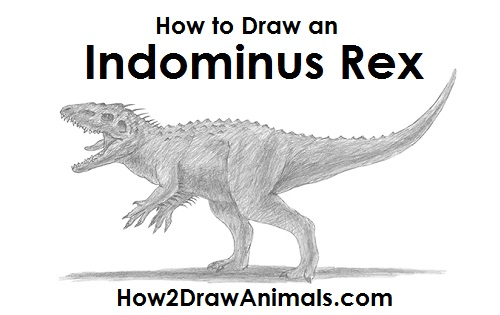 How to draw an indominus rex dinosaur draw indominus rex dinosaur ccuart Gallery
