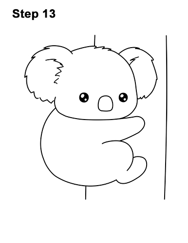 how to draw a koala cartoon video amp stepbystep pictures