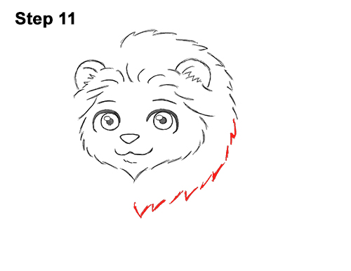Draw Cute Cartoon Lion Chibi Little Mini 11