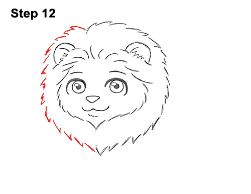 Draw Cute Cartoon Lion Chibi Little Mini 12