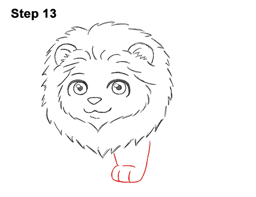 Draw Cute Cartoon Lion Chibi Little Mini 13