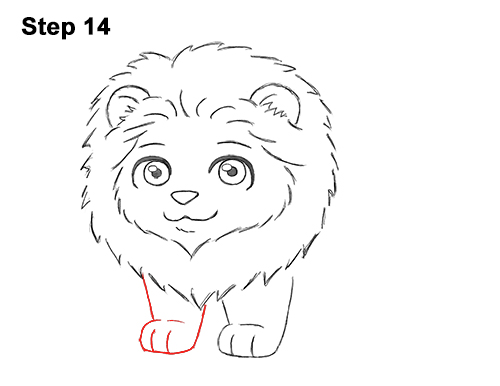 Draw Cute Cartoon Lion Chibi Little Mini 14