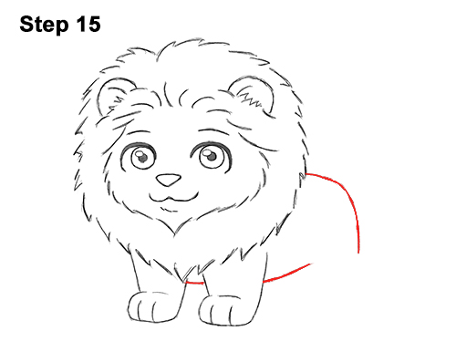 Draw Cute Cartoon Lion Chibi Little Mini 15