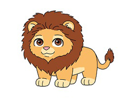 How to Draw a Cute Cartoon Lion