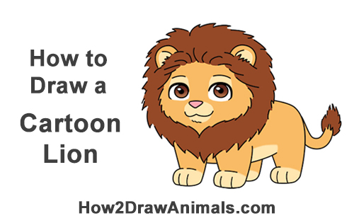 How to Draw a Cute Cartoon Lion Chibi Little Mini