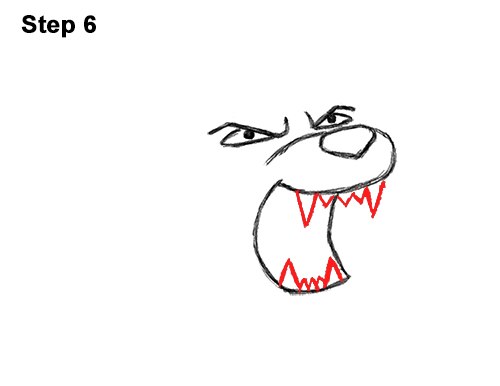 How to Draw Tough Cool Angry Cartoon Lion Roaring 6