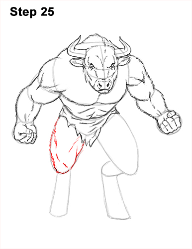 How to Draw Cool Angry Minotaur Bull Horns 25