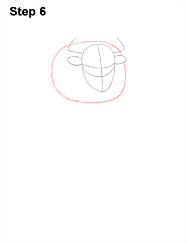 How to Draw Cool Angry Minotaur Bull Horns 6