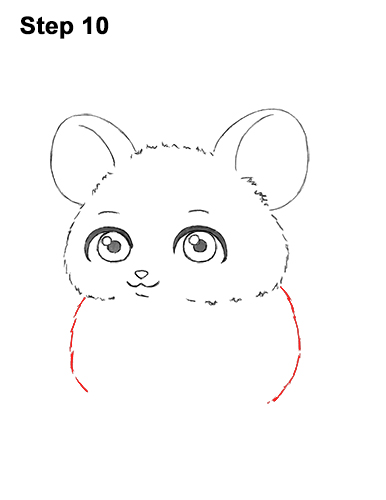Draw a Cute Chibi Little Mini Cartoon Mouse 10