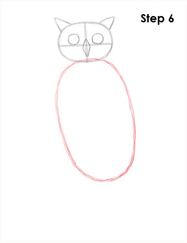 Draw Great Horned Owl 6