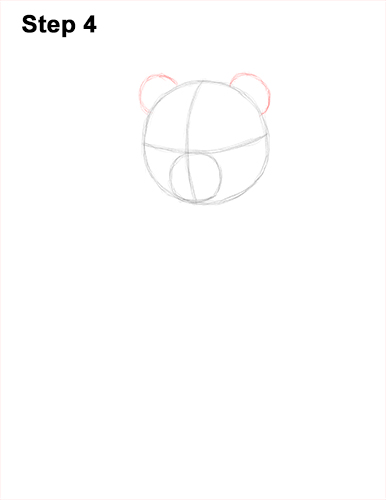 How to Draw Cute Giant Panda Bear Sitting 4
